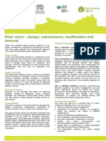 River weirs - design maintenance modification and removal - summary