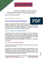 Familia Valcarcel-Carnero Retorna Al Peru