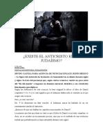 EXISTE EL ANTICRISTO EN EL JUDAÍSMO