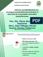 Transdisciplinariedad 2017 Zermeño, Elsa, Yaz