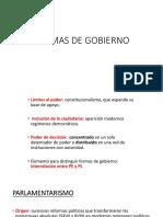 Clase SISTEMAS DE GOBIERNO