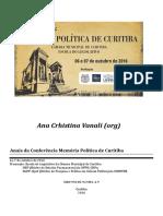 2016 - Memória política de Curitiba