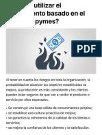 ¿por qué utilizar el pensamiento basado en el riesgo en pymes?