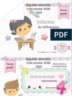 Insumos Informe de evaluación Preescolar. 2do momento