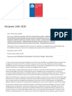 SUSESO_ Normativa y jurisprudencia - Dictamen 1160-2020