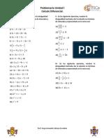 Problemario Calculo Diferencial UI