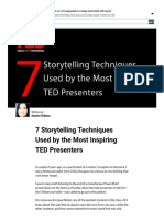 7 Storytelling Techniques Used by the Most Inspiring TED Presenters _ Visual Learning Center by Visme