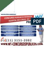 Concurso Hospital das Clínicas 2011 - Auxiliar de Enfermagem