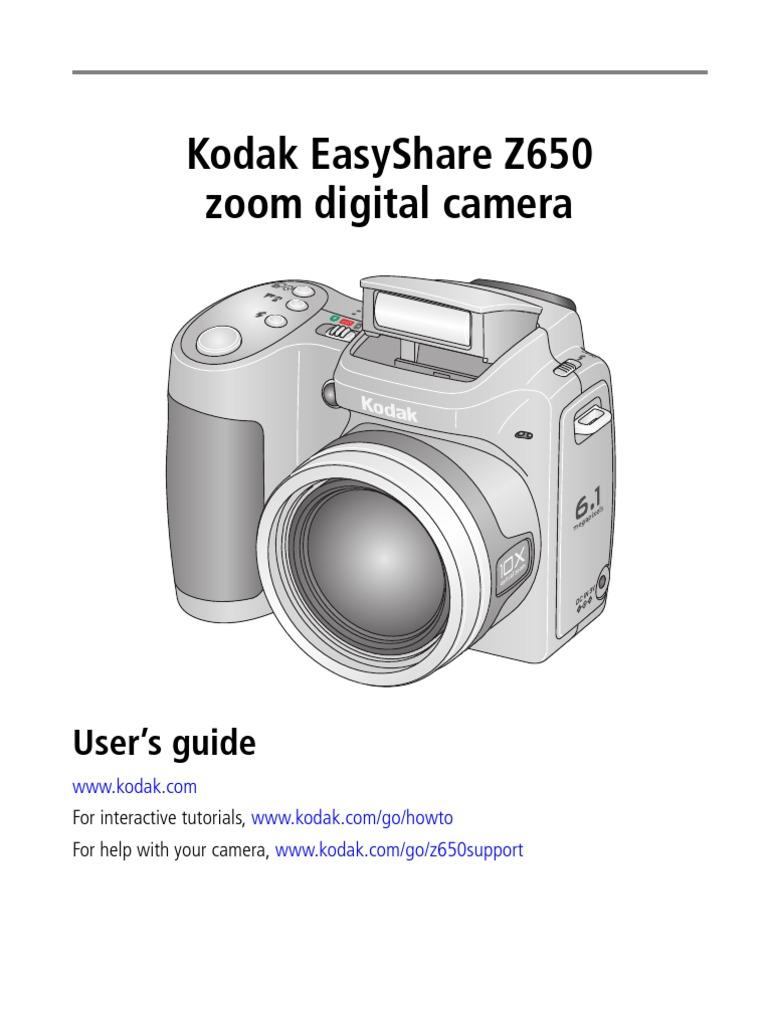 z650 camera manual shutter speed exposure photography rh scribd com Kodak EasyShare Z650 SD Card Kodak 10X Zoom EasyShare