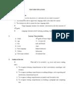 Test Specificatio n Script