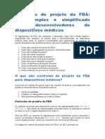 Controles de projeto da FDA
