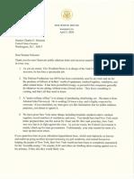 Trump Letter to Schumer