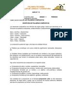 GUÍA 12. ESCRITURA DE PALABRAS COMPUESTAS