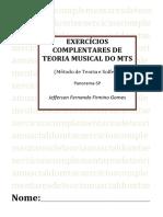 Caderno de exercícios elaborados por Jefferson Fernando Firmino Gomes