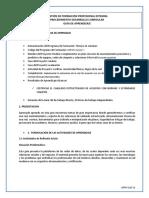 GFPI-F-019_Formato_ GUIA 13 implementar la estructura de la red de acuerdo con un diseño preestablecido a partir de normas técnicas internacional