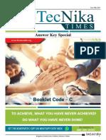 Biotecnika_Times_CSIR NET JUNE 2019 Exam Question Paper + Answer Key (1)