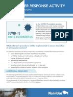 Adaptations to High Water Response Activity