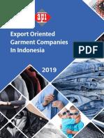 Directory - Export Oriented Garment Companies in Indonesia (2019)