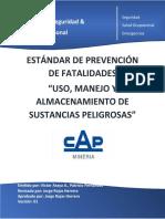 03 Estándar de prevención de fatalidades de uso, manejo y almacenamiento de sustancias peligrosas Rev1