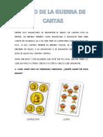 GUERRA DE CARTAS