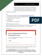 Mobile phone return instructions