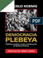 Koenig, Marcelo - Democracia Plebeya