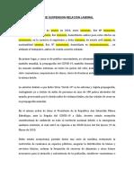 PACTO DE SUSPENSION RELACION LABORAL