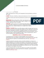 CLASE DE PRIMEA INFANCIA