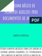 Programa básico de primeros auxilios para documentos de archivo