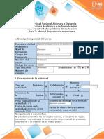Guia de actividades y rubrica de evaluacion - Paso 3- Manual de protocolo empresarial