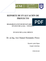 REPORTE FINAL DE EVALUACIÓN DE PROYECTO