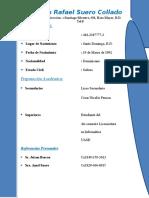 Curriculum Luis Suero