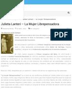 Julieta Lanteri - La mujer librepensadora - Masonería Mixta
