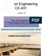 Lec 7 WEIRS AND BARRAGES