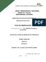 GUIA DE OBSERVACIÓN