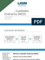 Econometria MCM (mínimos cuadrados ordinarios)