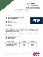 PROGRAMA ANALITICO de CLÍNICA OBSTÉTRICA  2020.docx