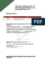 Definición de un Vector en R2, R3 (interpretación geométrica) y su Generalización en Rn