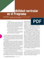 La flexibilidad curricular en el Programa