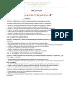 PROGRAMA DE EDUCACIÓN TECNOLÓGICA 2020 - 4° AÑO