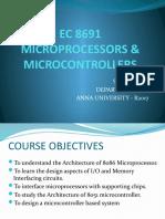 EC 8691 Course Outline & Introduction
