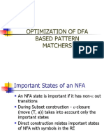 8. Optimization of DFA Based Pattern Matchers