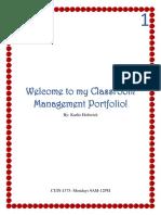 classroom management portfolio- karlie holtwick