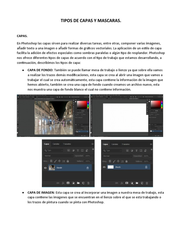Tipos De Capas Y Mascaras Imagen Adobe Photoshop