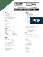 Matemática - Pré-Vestibular7 - Resolução de Exercícios IV