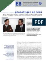 Pour une géopolitique de l'eau - Les entretiens du directeur Hors Série n°2 - décembre 2010