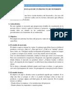 ELEMENTOS ESENCIALES DE UN PROYECTO DE INVERSIÓN (Recuperado automáticamente)