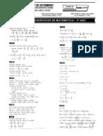 Matemática - Pré-Vestibular7 - Resolução de Exercícios VI