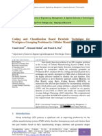 Coding and Classification Based Heuristic Technique for Workpiece Grouping Problems in Cellular Manufacturing System