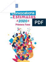 Convocatoria de Estimulos 2020 (1 de Abril)